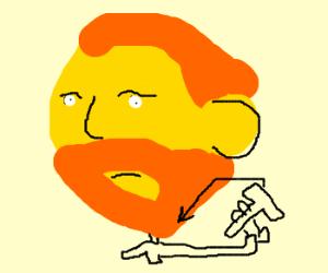 Van Gogh Shaving