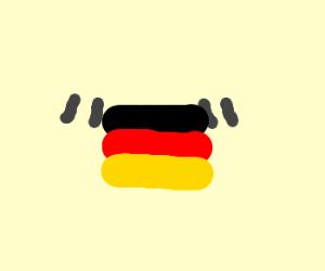 Quatation Marks Holding German Flag