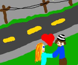 falling in love on road side