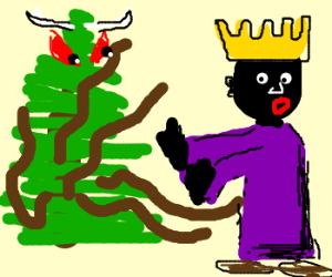 king unwants xmas-octopus-tree devil