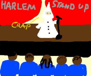 KKK member tries stand up comedy & fails