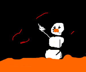 Snowman complains about life on the sun