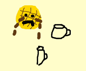 Waffleface is crying - more maple syrup!