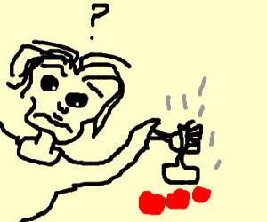 Man struggles to make tomatosauce