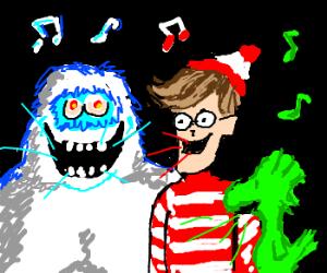 Yeti, Waldo and Green Woodstock singing