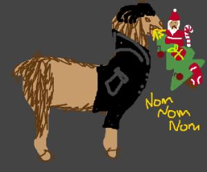 50's llama devours christmas
