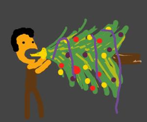 Man-eating christmas tree