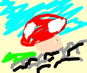 Mushroom Collapsing