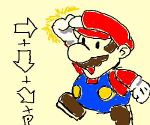 Mario finally masters the shoryuken.