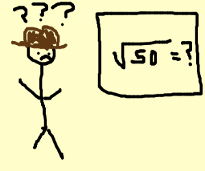 Cowboy confused about square root math