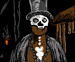Abe Lincoln as an African witch doctor.