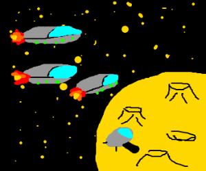 cheese moon invasion