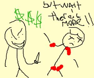 Macabre Salesman rips you off.