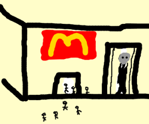 McDonalds caters to even the slenderman