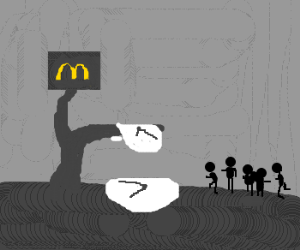 lil' ppl running into McD's Dali watches