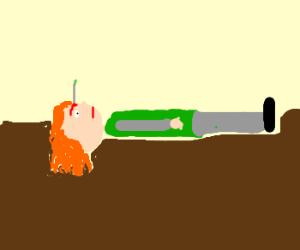 grl dies from pencil thing