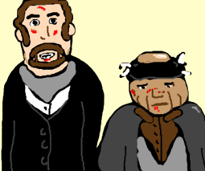 The Wet Bandits, post-battle with Culkin