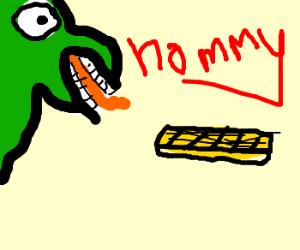 Dinosaur loves Cheesebwaffle