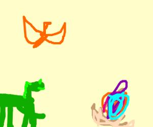 Green-Horse-Raptor salivates over eggo~~