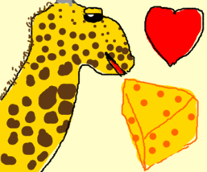 giraffe loves cheese