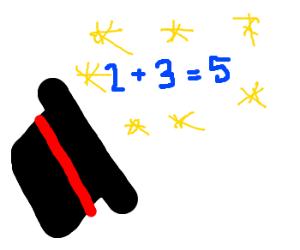magic addition hat 2+3=5