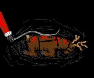 santa over-whips reindeer