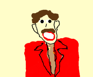 Ron Burgandy catches an egg in his mouth
