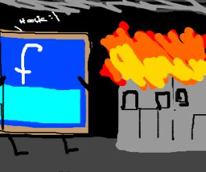 bookfacebook destroys city