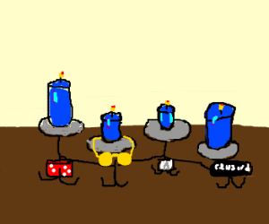 scantily clad candelabra