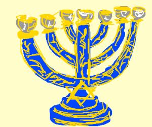 Jewish candelabrum