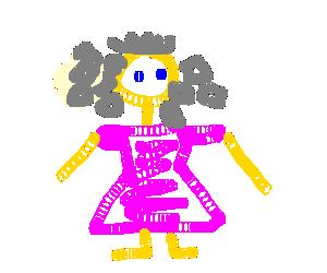 A princess with diamonds for hair