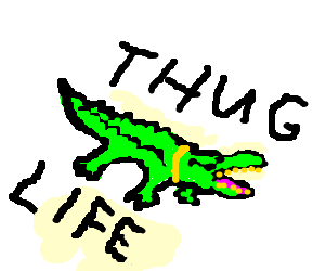 Swagged out crocodile