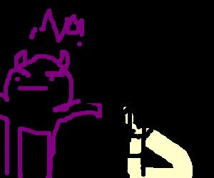 Purple demon opposes public relations