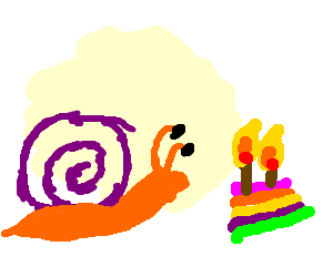 A snail's 9th birthday