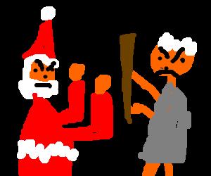 Santa v. Moses FIGHT!