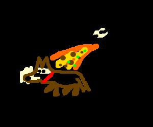 man puking on a dog