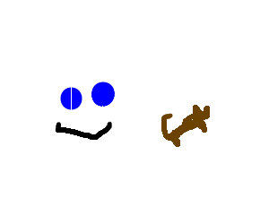 happy ghost likes to go through cat-shaped feces