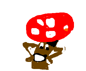 a champignon dancing macarena