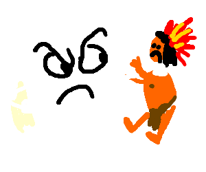 angry tofu grabbing sad native american