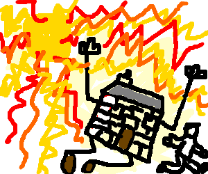 Man helps sentient house outrun exploding sun