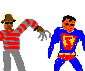 Freddy tries to give Superman chicken pox