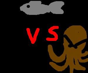 Fish vs cat vs octopus