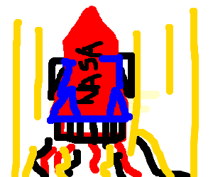 red space rocket