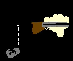 Sent by a rock, a paper and a shotgun