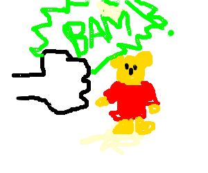 Winnie the Pooh gets punched