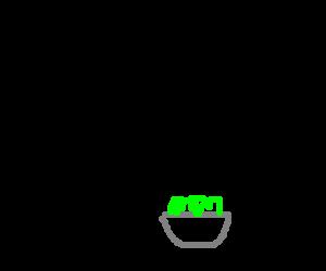 cthulhu eating a salad