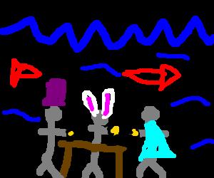An underwater tea party