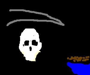 Grim reaper reaps beans