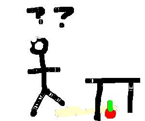 Einstein lost his apple