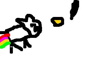 Nyan Cat and GLaDOS arguing